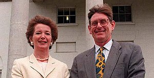 Ireland's president Mary Robinson and Ross