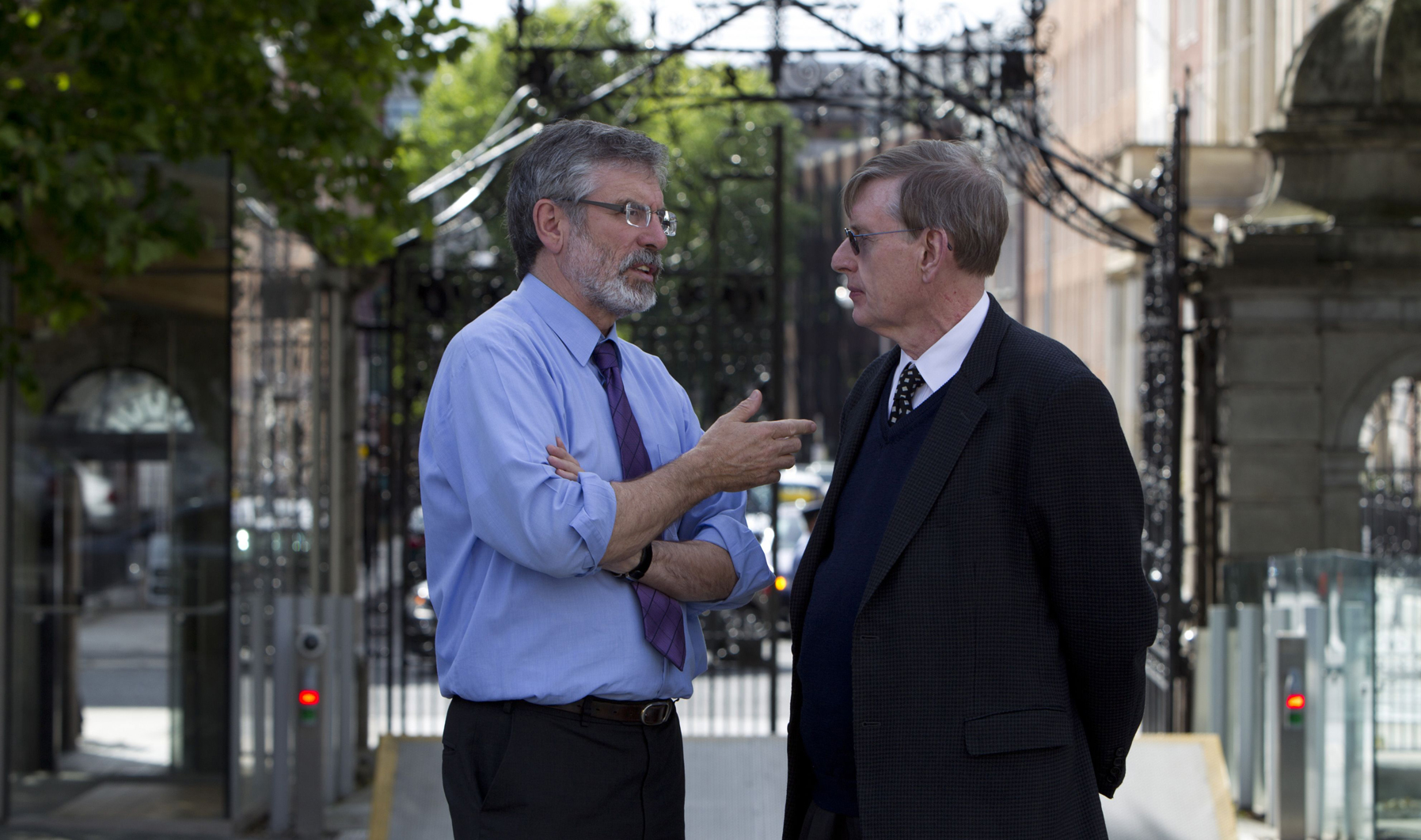 Ross with Gerry Adams, President of Sinn Féin.